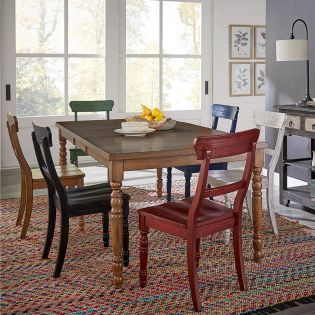 D845 Savannah  Dinning set  (1 Table + 6 Chairs)