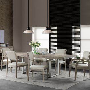 Intrigue  Dining Set  (1 Table + 2 Arm + 4 Side)