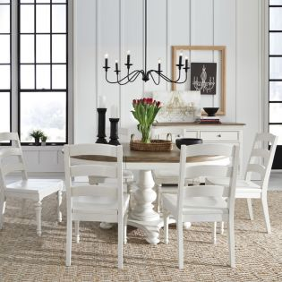 Farmdale 9770P  Round Dining Set  (1 Table + 6 Side)