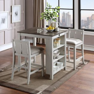 D5773 Heston-2  Counter Dining Set  ( 1Table + 2 Chairs)