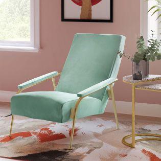 Tov-S6425  Abbey Mint Green Velvet Chair