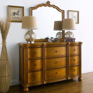 Lily-Brown  Dresser+Mirror