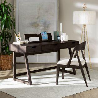 1322 Office Desk  Blackbean
